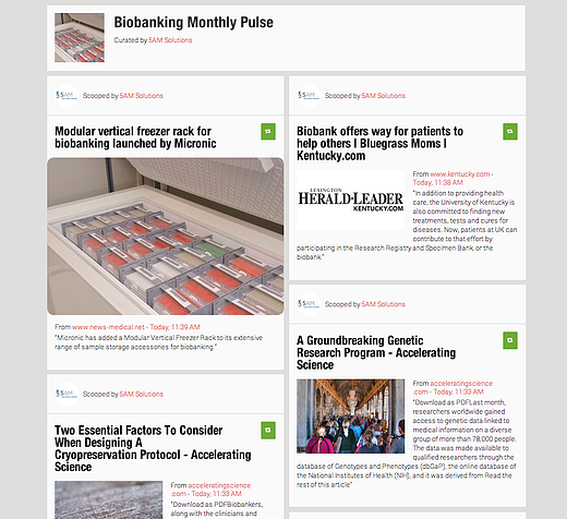 Biobanking Monthly Pulse